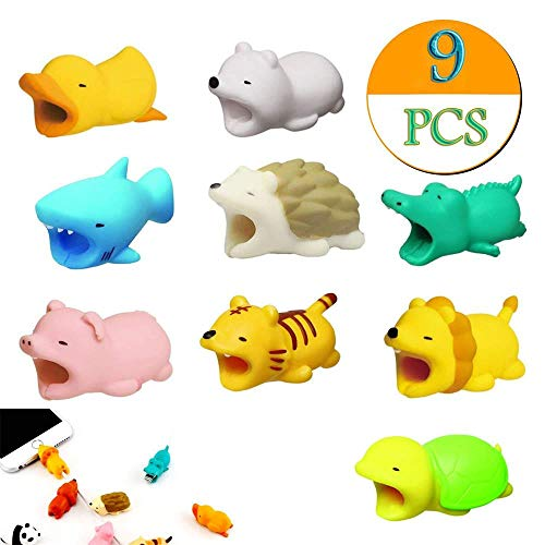 Price comparison product image DDLBiz Clearance! Cute Cable Bite for Iphone Cable cord Animal Phone Accessory Protects (9Pcs)