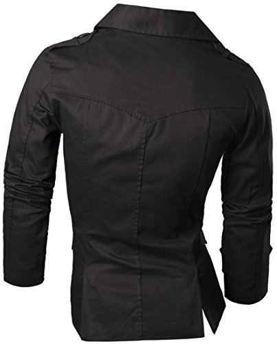 Abrigos Jacket Outerwear Hombres Chaqueta Blusas Jeansian Tops Moda 8006 Black Mens Blazer Chaqueta Fashion xE8zBS