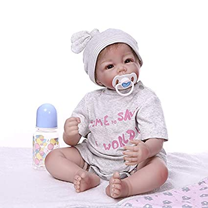 Pinky 22 Inch//55cm Soft Dolls Reborn Baby Girl Realistic Look Real Newborn Doll