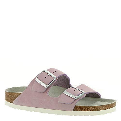 Birkenstock Women's Arizona Soft Footbed Sandal Lilac Nubuck Size 42 N EU