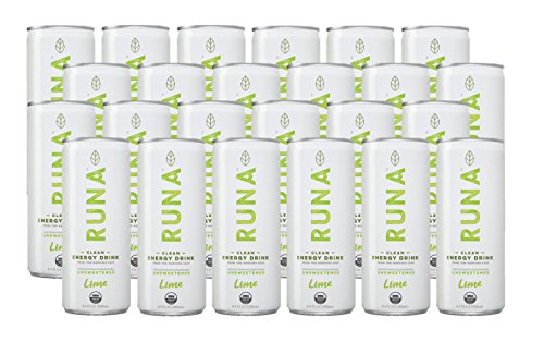 RUNA Clean Energy Drink, Lime, 8.4 Ounce (Pack of 24)
