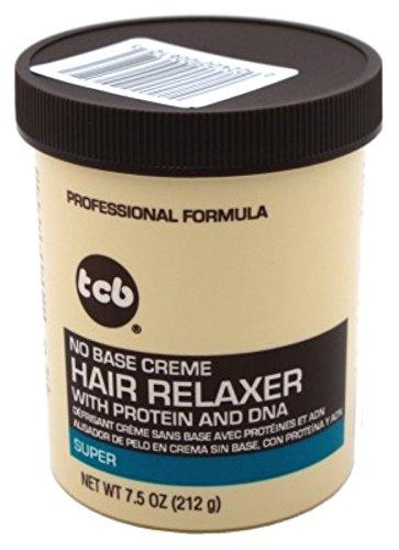 TCB No Base Hair Relaxer Creme, Super, 7.5 Ounce -