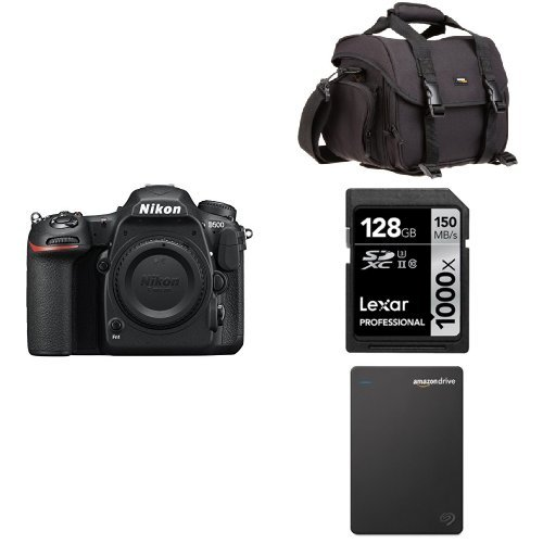 Nikon D500 DX-Format Digital SLR (Body Only) w/ Seagate 1TB Hard Drive and Accessories
