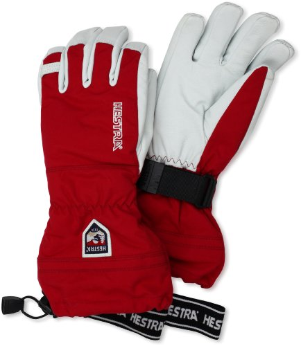 Hestra Army Leather Heli Ski Gloves, Red, 10