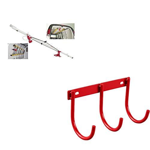 Weatherguard 250 Sliding Ladder Rack & Weatherguard 9893-7-01 3-Hook Tool Holder