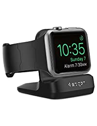 Spigen S350 Apple Watch Stand and charger with Night Stand Mode for Apple Watch Series 3 / series 2 / Series 1 / 42mm / 38mm, Patent Registered - Black
