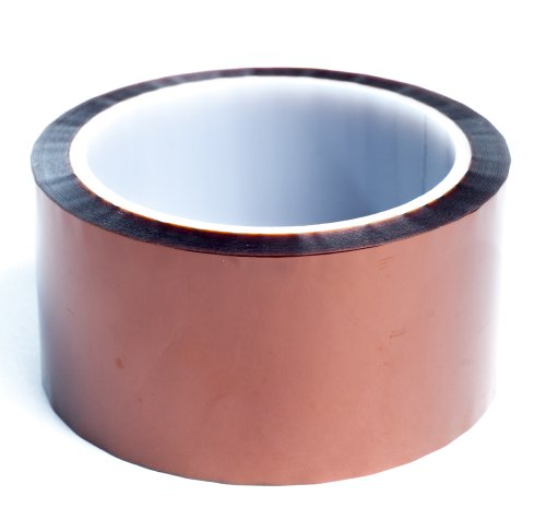 """Bertech 2"""" Wide x 36 Yards Long High Temperature Polyimide Tape, 1 Mil Thick on a 3"""" Core"""