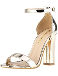 c3dabbaa580 Women s Strappy Chunky Block Sandals Ankle Strap Open Toe High Heel for  Dress Wedding Party Evening
