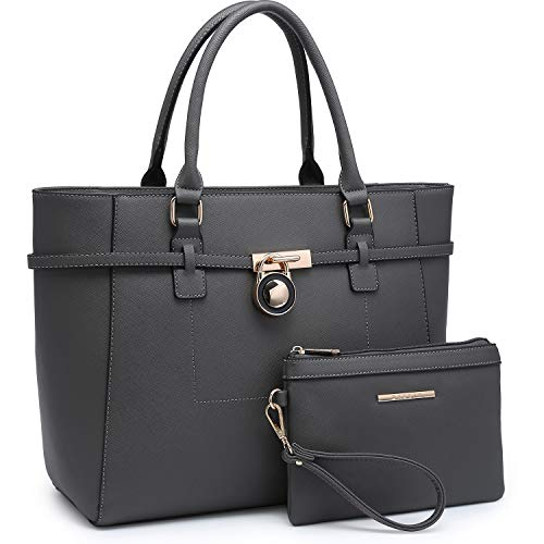 Large Top Handle Satchel Women Handbag Ladies Shoulder Bag Purse Set Faux Leather