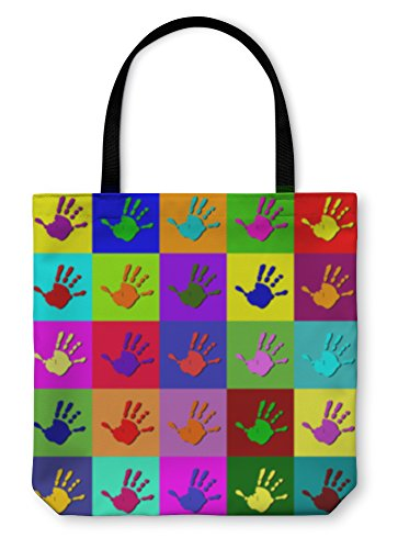 Gear New Shoulder Tote Hand Bag, Warhol Hands, 13x13, 5775700GN