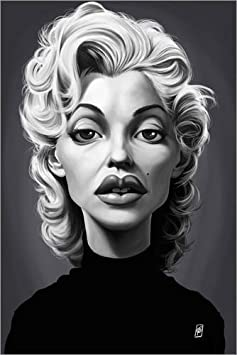 Posterlounge Acrylic print 20 x 30 cm: Marilyn Monroe by Rob Snow | caricatures