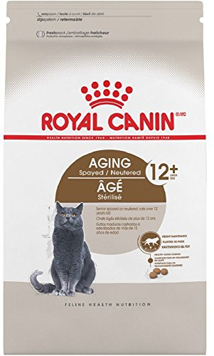 Royal Canin Aging Spayed/Neutered Senior 12+ Dry Cat Food (7 lb)