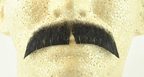 Rubies Basic Character Moustache BLACK - no. 2015 - REALISTIC! 100% Human Hair (Theatrical Moustaches And Beards)