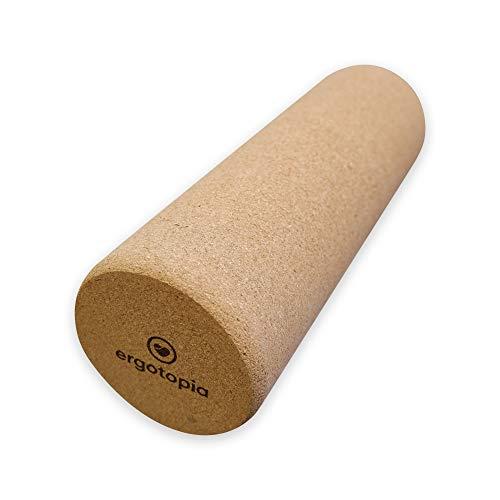 Ergotopia® Faszienrolle aus ökologisch-nachhaltigem Kork/Massagerolle aus Naturmaterial zur Selbstmassage im Alltag/Fitnessrolle für Dein gesundes Faszientraining
