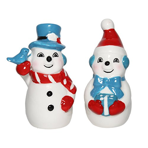 Christmas Snowman Salt Pepper Dolomite