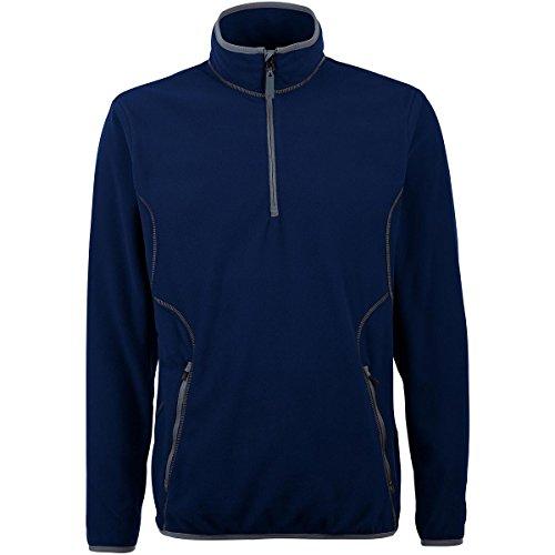 Antigua Fleece Micro Pullover - Antigua MEN'S ICE MICRO FLEECE 1/4-ZIP PULLOVER NAVY/STEEL XXXL