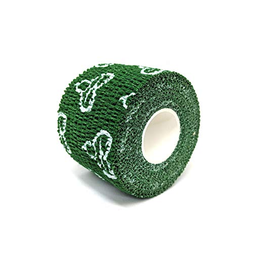 Liftgenie Thumb Adhesive Weightlifting Tape | Protects Thumbs When Lifting Weights & Prevents Knurling | Stretchy Adhesive Athletic Hook Grip Tape for Weightlifters (Green, 3 Rolls) by Liftgenie (Image #1)