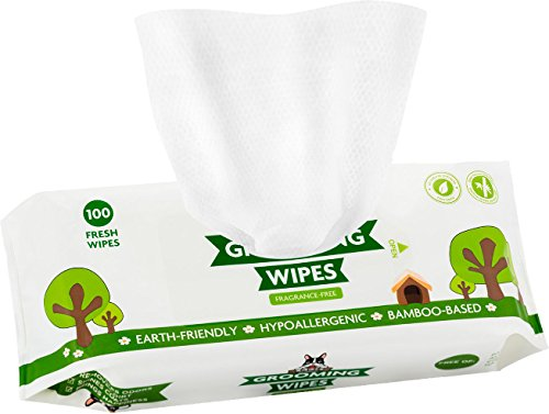Pogis-Grooming-Wipes-100-Deodorizing-Wipes-for-Dogs-Cats-Large-Hypoallergenic-Fragrance-Free-All-Natural-Pet-Wipes