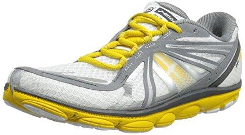 Brooks Men's PureCadence 3 Lightweight Running Shoes, Color: White/Sulphur/Pavement, Size: 9.5