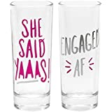 About Face Designs Unisex-Adults She Said Yaaas/Engaged Af Shot Glasses Set, Multi, Standard