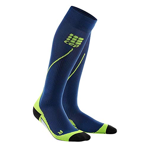 CEP Womens Running Compression Socks Long 2.0 (Deep Ocean/Green) III