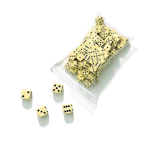 Philos 7381 - Dadi, 16 mm, sacchetto da 100 pezzi, colore: Avorio Philos-Spiele Philos_7381