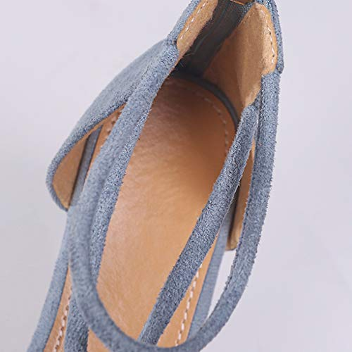 Piatti Azzurro Casual Sandali Donna Estivi Vovotrade Da Nodo Tessitura Spiaggia Con FwTtt6Bx
