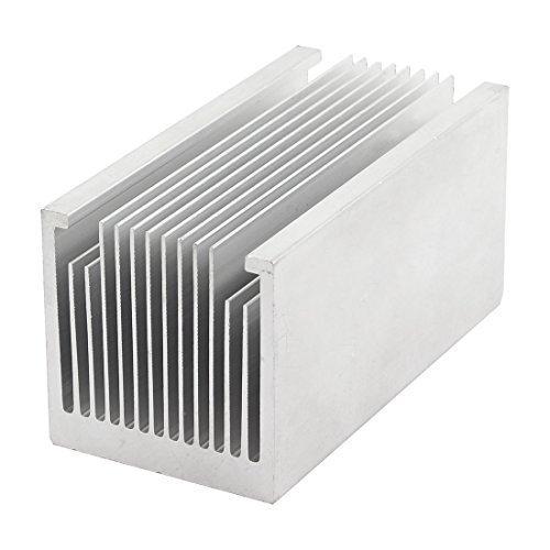sourcingmap® 100x50x50mm Aluminium-kühlkörper Kühlender für LED Leistung Speicher-Chip