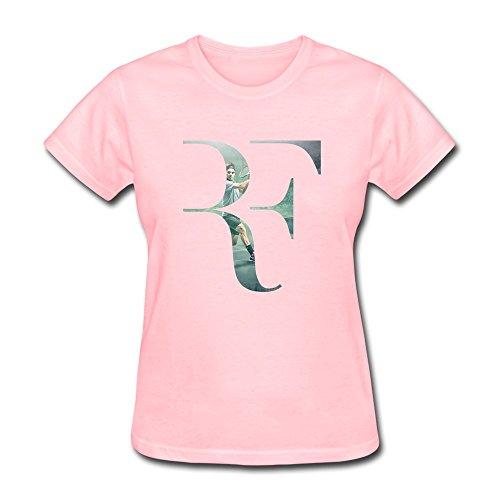 New Lifestyle Women's Roger Federer Logo Short Sleeve Tshirt