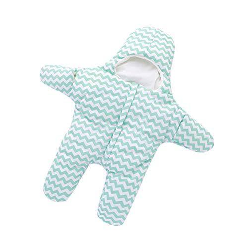 BESTOYARD Saco de Dormir para recién Nacido Cochecito Swaddle Manta Envolturas Accesorios de Cama 80 cm (Verde)