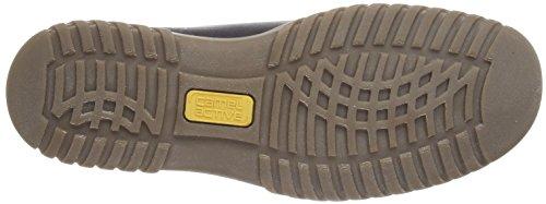 camel active Cuba Cup GTX 11, Scarponcini Uomo, Nero (Black Waxed Leather/Oil Suede), 44