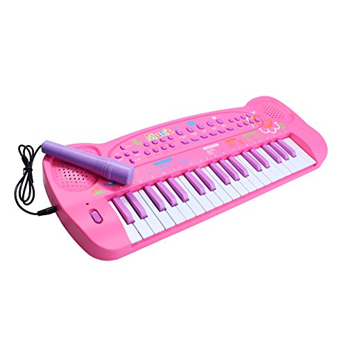 aPerfectLife Kids Piano Keyboard 37 Keys Multi-Function Electronic Organ Musical Keyboard Learning Educational Toy Piano for Kids Toddler Children