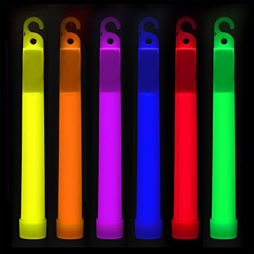 Glow Sticks Bulk 25 Count – Industrial Grade, Ultra Bright Glow In The Dark Light Sticks - Box of 6' Premium Glow Party Supplies in Assorted Colors