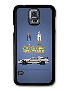 AMAF ? Accessories Back to the Future Game Illustration Marty and Doc with Delorian case for Samsung Galaxy S5
