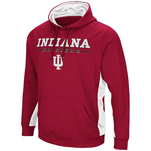 Colosseum Indiana Hoosiers Youth Boys Red Setter Pullover Hoodie (Small)