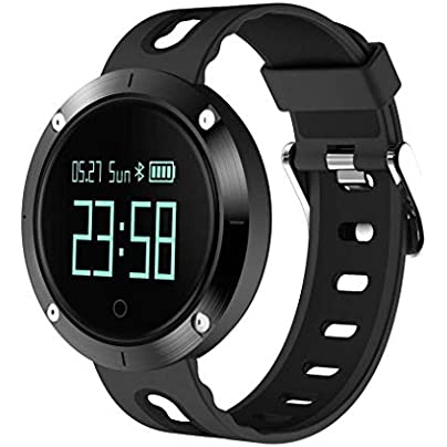 Watch Fashion Smart Heart Rate IP68 Waterproof Bluetooth Sport Smart Wristband Fitness Tracker with Sleep Blood Pressure Monitor for Android Phone and iPhone Black Estimated Price £127.73 -