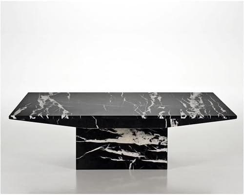 Marble Coffee Table Black Travertine Marble Monaco Nero Amazon Co