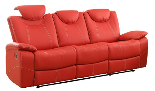 reclining sofa faux leather
