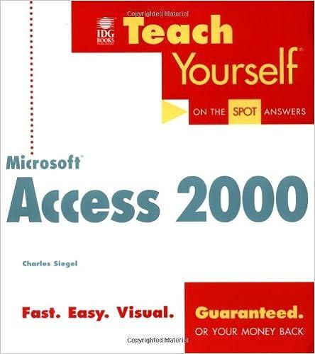 Teach Yourself Microsoft Access 2000 (Teach Yourself (IDG))