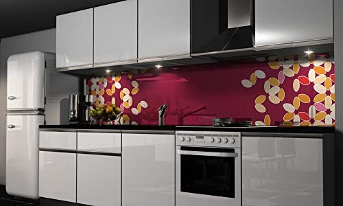 Film autocollant décoratif pour cuisine - Protection anti-éclaboussures, H: 60cm x B: 150cm