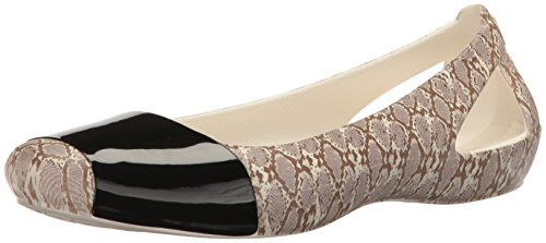 Animal Women's Crocssienna Crocs Snake Print Shiny Flat wZzxnq8U