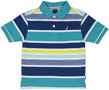 Nautica Little Boys Short Sleeve Striped Deck Polo Shirt