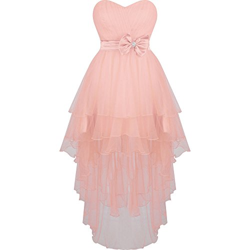 Short Homecoming Prom Low Party Gown High Dress Chupeng Formal Strapless Bridesmaid Pink ntqpwTXx0x