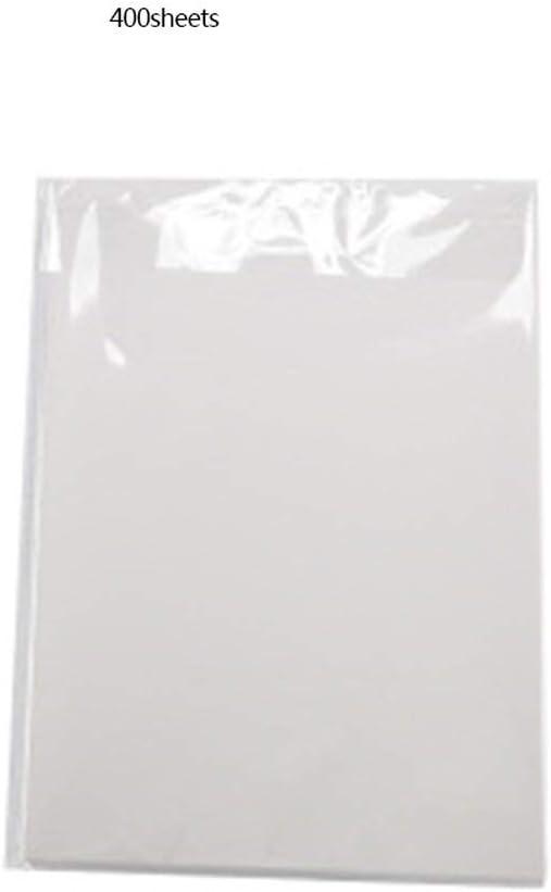 Dailyinshop 100 Piezas de Papel de película de Transferencia de Calor de sublimación de Tinte A4 para Camiseta de algodón y poliéster: Amazon.es: Hogar