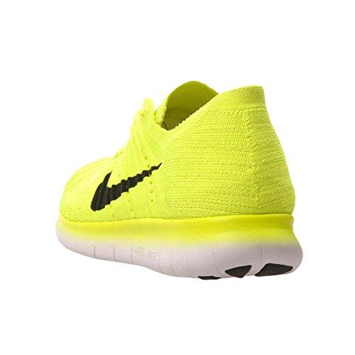Nike Gratis Rn Flyknit (gs) Loopschoenen Verde (volt / Zwart-wit)