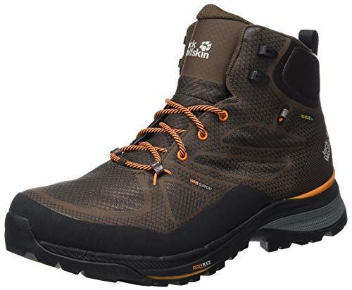 Zapatos de montaña Jack Wolfskin para hombre, naranja mocca, EE. UU.: 5