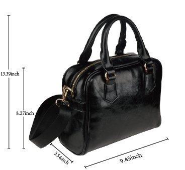 LEINTEREST Stripes Women Top Handbag Shoulder Bag