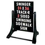 Swinger Standard Message Board Sidewalk Sign - Black