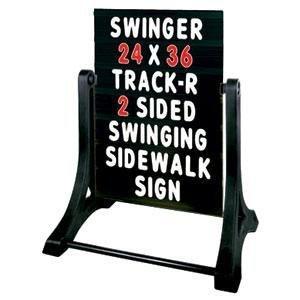 Swinger Standard Message Board Sidewalk Sign - Black by Swinger