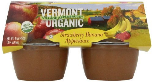 Vermont Village Applesauce Strawberry Banana, 16-Ounce (Pack of 6) made in Vermont